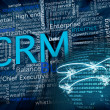 CRM and network — Foto Stock