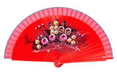 Red fan — Stock Photo