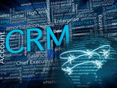 CRM and network — Stock Photo