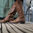 Stock Photo: Cowgirl boots