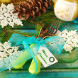 Table decoration for christmas — Stock Photo