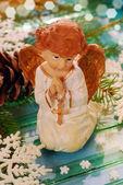 Praying angel for christmas — Stock Photo