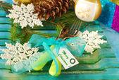 Tischdekoration für Weihnachten — Stockfoto