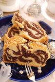 Poppy cake for christmas — Stock Photo