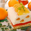 Stock Photo: Cheese cake with oranges and jelly for christmas