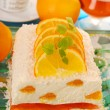 Cheese cake with oranges and jelly for christmas — Stock Photo #7586998