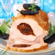 Loin of pork stuffed with prune — Stock fotografie #7852373