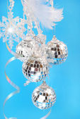 Shining christmas decoration — Stock Photo