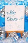 クリスマスのご挨拶と背景 — ストック写真