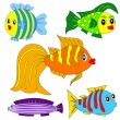 Cartoon vector fish set — Stock Vector #6763031