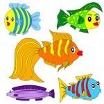 Cartoon vector fish set EPS8 — Stock Vector