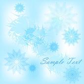Zimní karta — Stock vektor