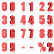 Red Numbers — Stock Photo #7629179