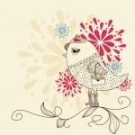 Fashion bird — Stock Vector #6836818