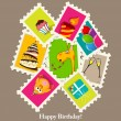 Birthday greeting card — Stock Photo #6931512