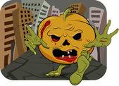 Pumpkin zombie — Stock Vector