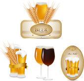 Beer set — Stock Vector