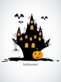 Castel de halloween — Vector de stock