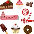 Dessert set — Stock Vector