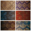 Stockvektor : Set of seamless vintage background