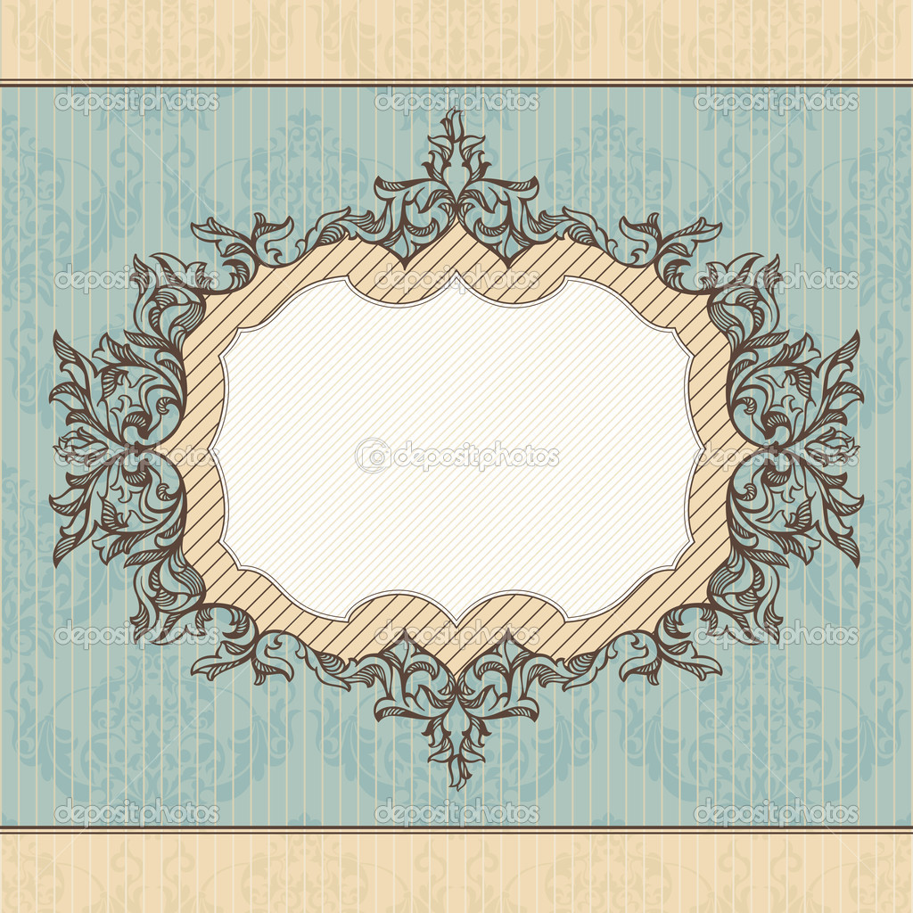Abstract retro royal vintage frame vector illustration — Stock Vector #6883185