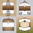 Set of decorative vintage frames — Stock Vector