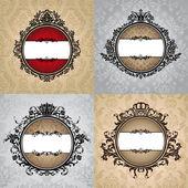 Set of royal vintage frames — Wektor stockowy