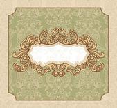Floral vintage frame — Vettoriale Stock