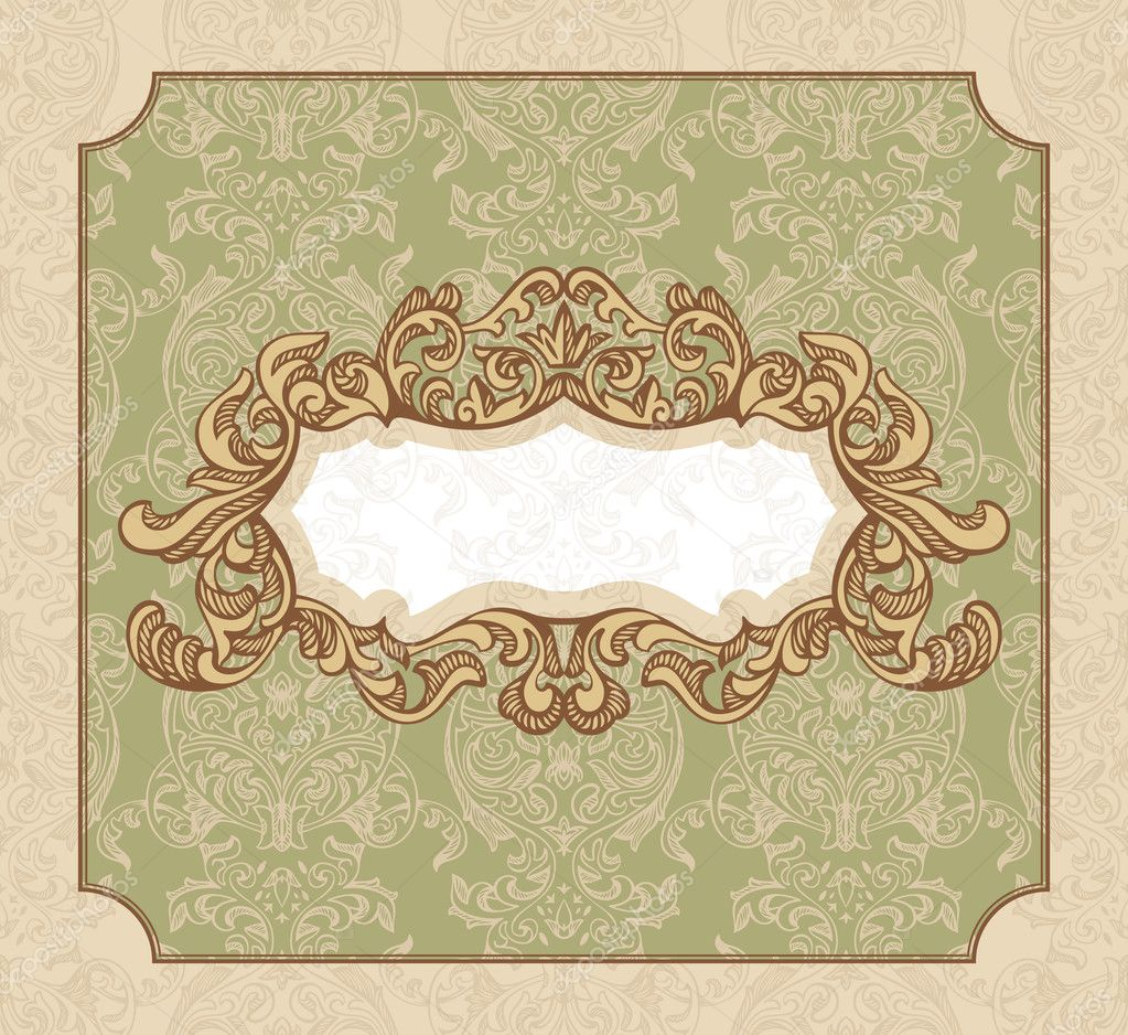 Abstract royal floral vintage frame vector illustration — Stock Vector #7007107
