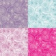 Decorative seamless patterns - Grafika wektorowa