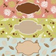 Stock Vector: Set of cute floral banners