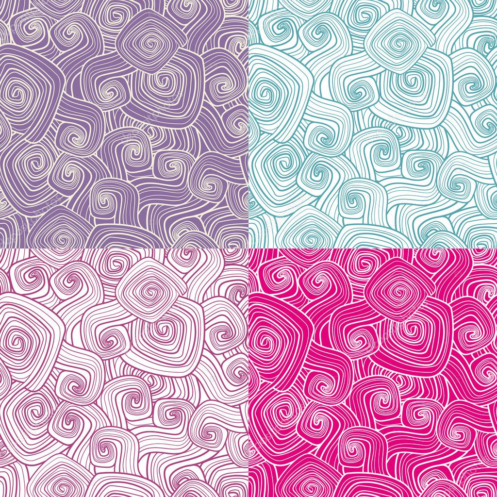 Set of decorative seamless patterns vector illustration  Stock Vector #7141236