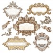 Stock Vector: Set of royal vintage frames