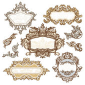 Set of royal vintage frames — Stock Vector