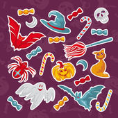 Set of Halloween icons — Vecteur