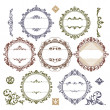 Set of royal vintage frames - Stock Vector