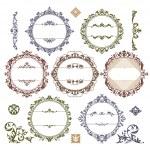 Set of royal vintage frames — Stock Vector