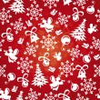 Seamless christmas background — Stock Vector