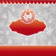 Christmas vector frame — Stock Vector