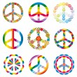 Set of peace symbols — Stock Vector #7374715
