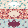 Set of cute floral banners — Stock Vector #7434166