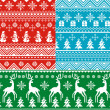 Seamless christmas backgrounds — Stock Vector