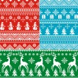 Seamless christmas backgrounds — Stock Vector #7434199