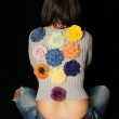Stock Photo: Girl with colors on back