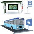 Stock Vector: Bus station images