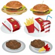 Stock Vector: Fast food collection 1