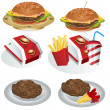 Fast food collection 1 — Stock Vector #6856186