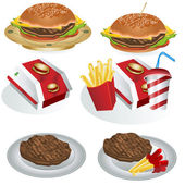 Fast food collection 1 — Stock Vector