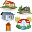 Five houses — Stock Vector