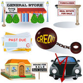 Recession images 3 — Stock Vector
